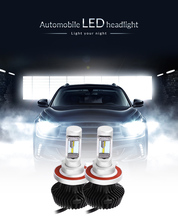 1 Pair of 9008 / H13 Car Integrated LED Headlight 6500K Water Heat Resistance 60W Bright Super Brightness Car LED Headlight