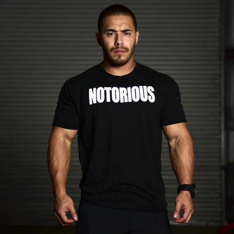 muscle guys Mens gyms T shirt-5