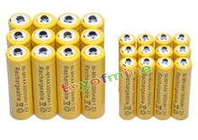 12x AA 3000mAh + 12x AAA 1800mAh 1.2V NiMH Yellow Rechargeable Battery Cell 2A 3A
