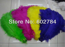 Free Shipping 200pcs/lot mix 2 color ostrich drab feather ostrich plumes 16-18inch 40-45cm for wedding centerpieces