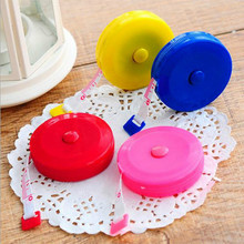 New Retractable Colorful Portable Retractable Ruler Tape Measure 60 inch Sewing Cloth Dieting Tailor 1.5M(China)