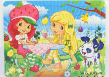Free shipping premiums GC-PTI-1-OPP Blue 28.5 X 21.5 cm 63PCS Cartoon Jigsaw puzzles manufacturer toy
