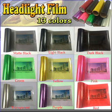 Wholesales 12 Colors 8 Rolls Size:30cm*10m/roll Auto Car Light Headlight Taillight Tint Vinyl Film Sticker Free Shipping(China)