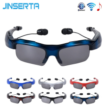 JINSERTA Newest Style Bluetooth Wireless Sunglasses Headset Handsfree Headphones Earphone mix color sunglasses Sports Sunglasses(China)