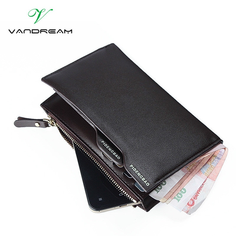 2017 Hot Fashion Men Wallets Handbag Solid PU Leather Man Bag Portable Change Clutch Business Brand Cash Phone Card Coin Purse<br><br>Aliexpress