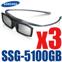 3pcs/lot Shipping 100% New Genuine Original 3D Bluetooth Active Shutter Glasses for Samsung SSG-5100GB With D E ES F H HU Series(China)