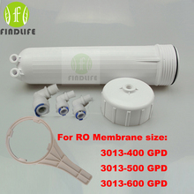 Warter Filter Parts RO Membrane Housing for 3013-400 gpd or 3013-600gpd ro membrane Complete WIth All Fittings And Spanner(China)