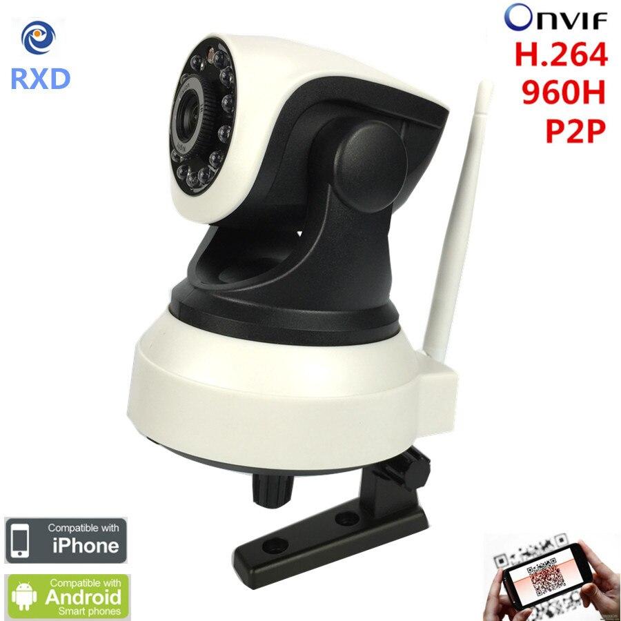 RXD Free Ship P2P IP Camera 720P HD Wifi Wireless Baby Monitor PTZ Security Camera ONVIF Cloud Night Vision Micro SD Card<br>