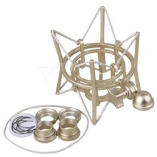 Yibuy Silver Metal Large Size Square Spider Shock Mount Holder for Newman U87