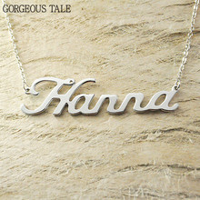 GORGEOUS TALE Gold Custom Name Necklace Personalized Jewelry Stainless Steel Customized Arabic Pendant Necklaces For Women