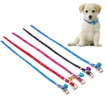 5pcs Puppy Dogs Love Collar Bell PU Leather Cat Supply Collars Pet Neck Small Pet Dog Kitten Multicolor Puppy Collars(China)