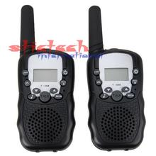 by DHL or EMS 100 pieces 0.5W UHF Auto Multi Channels 2-Way Radios Walkie Talkie T-388
