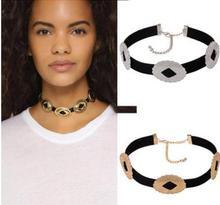 Europe Street simple leather PU metallic Collar Necklace selling female collar