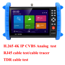 7 inch touch screen H.265 H.264 4K  IP camera tester Analog CCTV Tester CVBS test monitor with TDR RJ45 cable test cable tracer