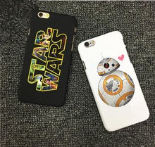 Fashion Star Wars Hard Back Cover for iPhone 6 6s 5 5s se 7 7Plus The Force Awakens BB-8 Droid Robot R2D2 Phone Case