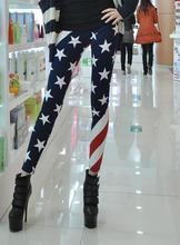 1pc Women lady Fashion American Flag Stars And Stripes USA Ladies Leggings Pants