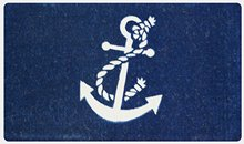 Nautical Anchor Coco Coir Welcome Doormat 24 x 39 Inches Indoor/outdoor Durable and Washable Decor Bathroom Entrance Rug(China)