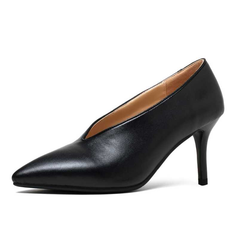 DoraTasia Size 33-40 Sexy Women Genuine Leather Pointed Toe Thin High Heel Shoes Party Wedding Dress Less Platform Pumps<br><br>Aliexpress