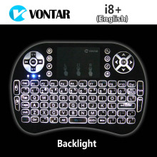 VONTAR Backlight i8+ English Russian Version Mini Wireless Keyboard 2.4GHz Air Mouse Touchpad for Android TV BOX Laptop Backlit