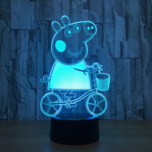 Night light 3D creative colorful LED lights customized LOGO USB power supply home lights(China)