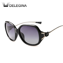 Clear Stock 2017 New Gradient Ladies Sunglasses Women Polarized Flower Female Shades occhiali da sole(China)