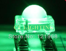 Free shipping 200pcs/lots 5MM super flux LED Green piranha DIP LED 3.0-3.5V 620-625nm