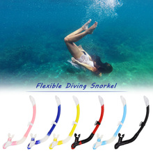 3 Colors Silicone Mouthpiece Swimming Full Dry Snorkel Diving Snorkel Breathing Tube Snorkeling Tube Pool Equipment Underwater(China)