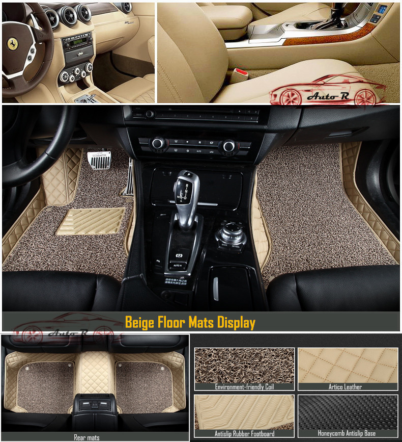 double layer coil leather car floor mats 13