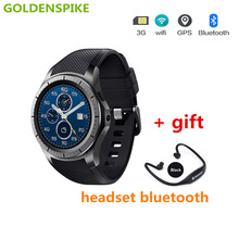 GOLDENSPIKE New GW10 Android SmartWatch GPS Bluetooth WiFi Heart Rate Fitness Tracker Support 3G SIM Card MTK6572 Smart Watches