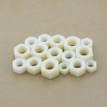 50pcs/Lot Metric DIN934 Nylon Hex Nut M10 Plastic Hexagon Nut Screw Nut