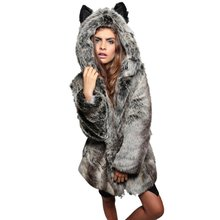 Buy 2018 Winter Fashion Women Coats Elegant Solid Faux Fur Warm Lady Coat Slim Long Sleeve Outwear Coat Hooded for $28.29 in AliExpress store