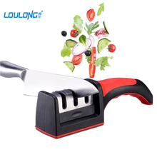 Kitchen Knife Sharpener 3 Stages Chef Knife Sharpening Tool Stainless Steel Professional Knife Sharpeners Ceramic Sharpen Stone(China)