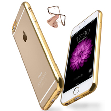 Soft Case for Iphone 6 6s Plus Apple 4.7 5.5 inch Clear TPU Rubber Cover Golden Purple Black Luxury Upscale Shell Golden New