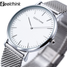 New ultra slim Top GEEKTHINK brand Quartz-Watch Men Casual Business JAPAN Analog Watch Men Relogio Masculino with gift box