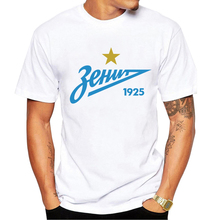 2017 New Arrival T-Shirts Men for FC Zenit Logo Fashion Russian Premier League Printed T shirt Short Sleeve Tee Shirts(China)