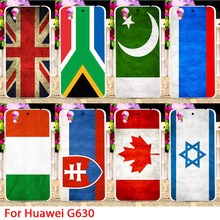Countries Flag Phone Cases Hard For Huawei Ascend G630 5.0 inch Hard Plastic Back Cover Protective Skin Shell Sheath Hoods Bag