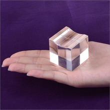 Crystal Glass Diamond Cube Base Display Stand Holder Feng Shui Crafts Home Decoration Ornaments Miniature Figurines(China)