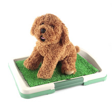 Hot Sell Indoor Dog Toilet Mat Puppy Potty Pad Training Seat Tray Dogs Toys Play Fake Grass Pet Supplies Products Accessories(China)