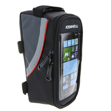 Bike Bicycle Frame Front Head Top Tube Bag Cycling Pannier For 4.8 inch Smartphone Touch Screen PVC Bike Accessories IB539(China)