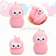 2017 9CM Hot kawaii Jumbo Gourd Bird Slow Rising squishy Bread Cake Buns Squeeze Simulation Charm Kid Toys Gift Doll Wholesale