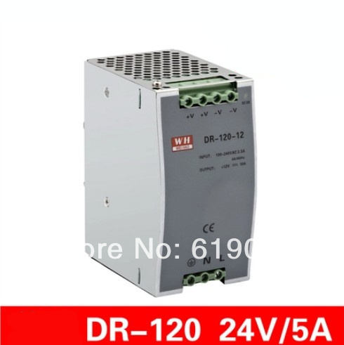 120W 24V single set of guide rail type LED switching power supply<br>