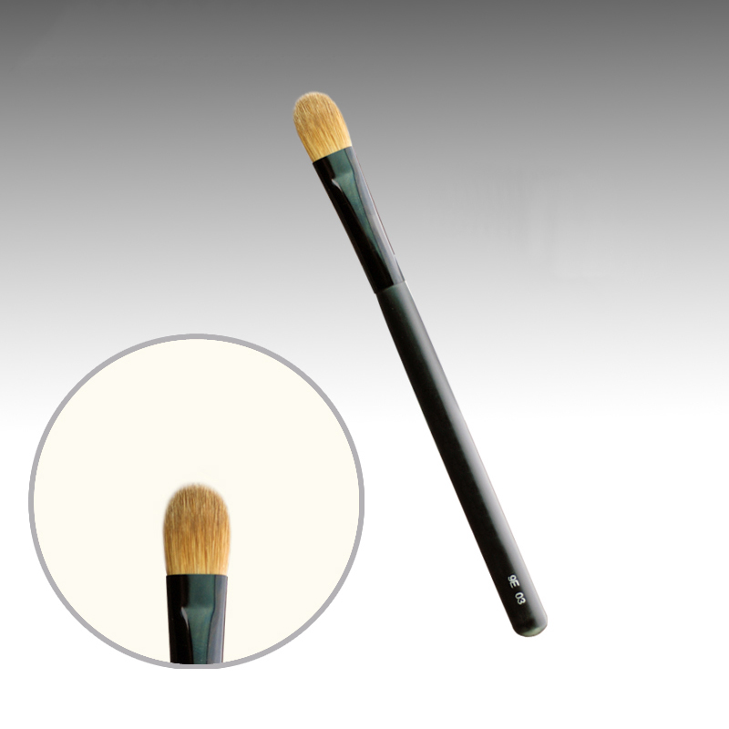 9E03 Professional Makeup Brushes Weasel Hair Eye Shadow Brush Black Handle Cosmetic Tools Eye Shader Make Up Brush<br>