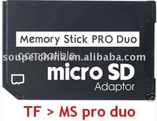 Micro SD TF to Memory Stick MS Pro Duo Adapter converter For PSP Support 4GB 8GB 16GB 32GB 64GB Class10 note: onlyl the adapter(China)