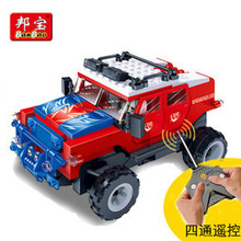 New Car Building Blocks Big Mac Wrangler model electric remote control Truck  Bricks Toys For Children Birhthday Gift
