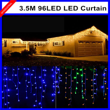 Connectable 3.5M 96led curtain icicle string lights led fairy lights Christmas lamps Icicle Lights Xmas Wedding Party Decoration(China)