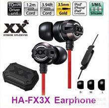 fpr JVC FX3X Subwoofer Metal in-ear earphone Sports Street Earphones for iPhone ipod for ipad