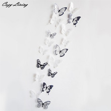 3D Wall Stickers 18 PCS 3D Butterfly Decor Wall Sticker Home Wall Decals Fancy DIY Wall Stickers Home Decor Living Room D14