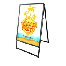 B0 Illuminate A-frame Sidewalk Sign - Centch LED Portable Advertising Display Stand Resatuarant Menu Board Snap Aluminum Frame