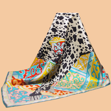 "Huajun || New brand scarf ""Appaloosa des Steppes"" 90 silk square 100% silk twill silk scarves printed shawl"