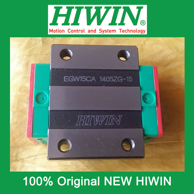 1pcs HIWIN EGW15 EGW15CA EG15 New original linear guide block Original HIWIN Linear Guide CNC Parts Stock Good<br>